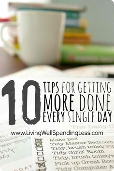 DIY Tips For Getting More Done Every Single Day