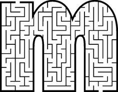 Capital Letter Maze Coloring Pages Kindergarten Reading, Kindergarten Activities, Preschool, Letter Maze, Paper Plate Crafts For Kids, Maze Puzzles, Labyrinth, Hidden Pictures, Letter Activities