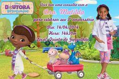 Convite digital personalizado Doutora Brinquedos com foto 002