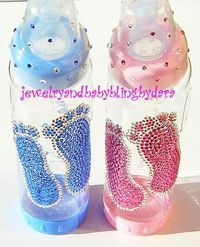 swarovski crystal baby bling baby bottles girl or boy