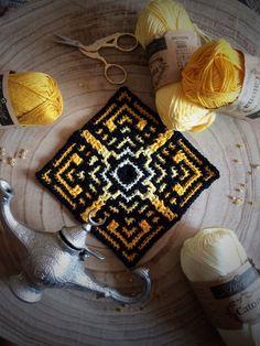 Medina Mosaic Tiles Motif By Mark Roseboom - Purchased Crochet Pattern - (ravelry) Crochet Squares, Crochet Granny, Crochet Motif, Crochet Stitches, Knit Crochet, Crochet Patterns, Crochet Ideas, Square Patterns, Tile Patterns