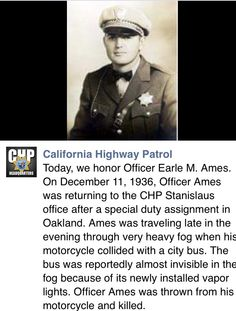 California Highway Patrol. Remember the fallen.
