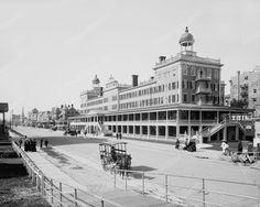 The Seaside Atlantic City 1910 Vintage 8x10 Reprint Of Old Photo
