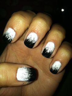fade black to white with glitter.