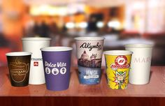 Miami Themed Custom Printed Paper Cups