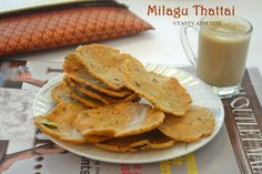 Thattai / Pepper Thattai / Milagu Thattai Recipe / Diwali Snacks Recipes | Tasty Appetite