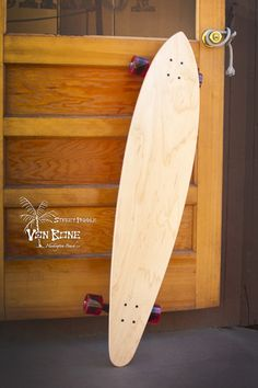 "California Classic Pin Tail Long Board 46"" California Classic design with modern improvements, mild arch with concave deck for hard carving. The 9-ply laminated deck keeps your feet centered for a silky, stable ride."