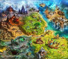 Asperia world map by Tsabo6 on deviantART