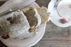 ... Dessert Recipe   Earl Grey 'Honey' Loaf Cake + Coconut Cream Glaze