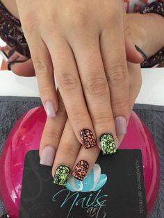 Acrylic Nails, Nails art, flower nails