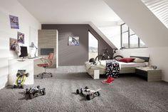 modernes schlafzimmer jugendliche junge dachschr ge wei grau home in 2018 pinterest. Black Bedroom Furniture Sets. Home Design Ideas