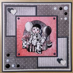 Pierrotje Yvonne Creations Cardmaking, Happy Birthday, Snoopy, Cards, Fictional Characters, White People, Kids Cards, Pretty Cards, Bricolage
