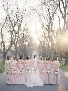 Wedding, Pink, Bridesmaids, Champagne, Light, Neutral, Taupe, Blush, Meagan david