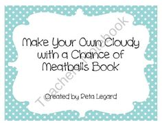 Cloudy With A Chance of ____________________ from Second Grade Superstars on TeachersNotebook.com (3 pages)