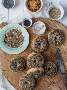 Original New York Style Bagels mit Everything Topping