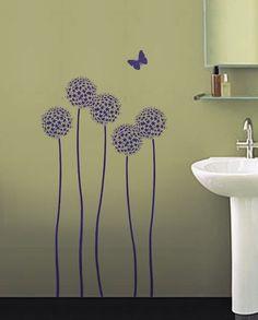 Flower Stencil Allium Twins Stencils for by CuttingEdgeStencils, $ 34.95