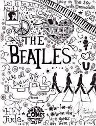The Beatles coloring book from the 1960s Fab The 1960 s