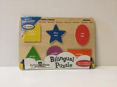 https://Poshinate.com - This classic wooden puzzle is great for helping your little kiddos learn their colors and shapes in English and Spanish! Ages:18 months and up
