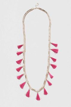 Bead and Tassel Long Necklace - Jewellery - Bags & Accessories