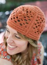 Free Hat Pattern (This happy hat is a modern riff on the classic crocheted granny square) ~ www.berroco.com