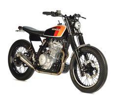 "Honda ""Boris Chambon"" by Le Garage de Felix Rennes. Tracker Motorcycle, Moto Bike, Cafe Racer Motorcycle, Motorcycle Design, Women Motorcycle, Motorcycle Quotes, Motorcycle Helmets, Street Tracker, Yamaha Cafe Racer"
