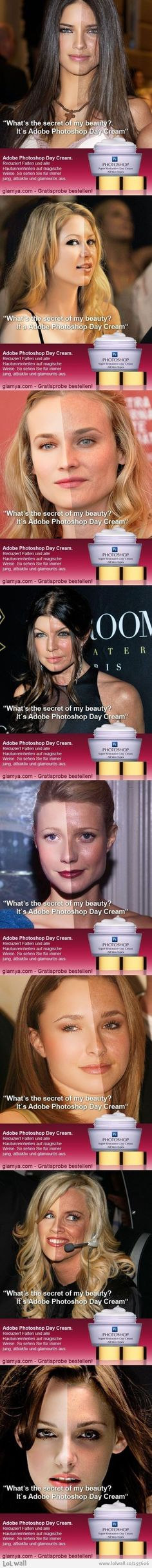 Adobe Photoshop Day Cream made all of this!