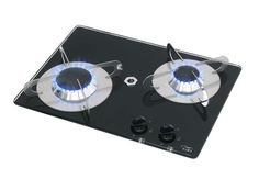 Chrystal PV1351 Tempered Glass Top Flush-in Stove - 2 Burner - 380x280mm - Code: 17258705