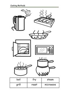 Image Result For Kitchen Worksheets Free