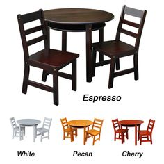 @Overstock - Give your kids their own furniture to play with. This set includes a table and two chairs in a great finish.   http://www.overstock.com/Home-Garden/Childrens-Round-Table-and-Chair-Set/7258361/product.html?CID=214117 $108.89