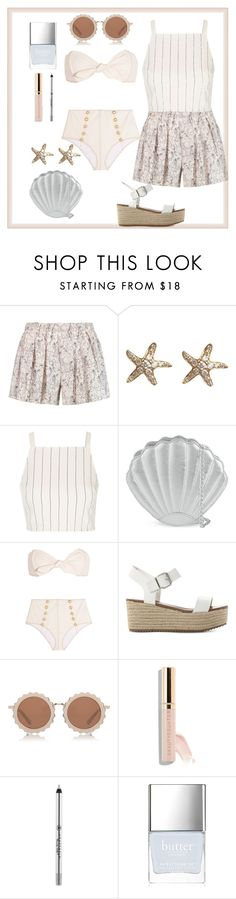 """""""Pink Sands"""" by drpepper7 ❤ liked on Polyvore featuring rag & bone, Annoushka, Topshop, Skinnydip, Lisa Marie Fernandez, Steve Madden, House of Holland, Anastasia Beverly Hills and Butter London"""
