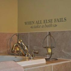 Uppercase Living ~ Bathroom ~ When all else fails ~ Take a Bath http://designsbydawn.uppercaseliving.net