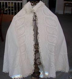 1862 whitework & cutwork cape