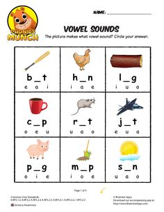 Vowel Sounds Phonics Worksheet by smiles987 via slideshare