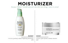 18 Beauty Essentials for The Everygirl: Moisturizer // Aveeno Brightening Moisturizer $10 // Murad Ultamate Moisture $65