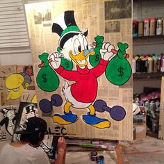 Studio sessions for LA show @labartlosangeles #alecmonopoly #parkplaceshow #march14th - @alecmonopoly- #webstagram