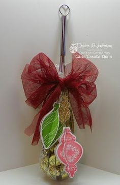 Decorated wire whisk, Stampin' Up! products by Debbie Henderson, Debbie's Designs.