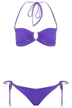 d6baac5e942b9 Violet Bandeau Bikini Top and Tieside Bikini Pants - Bikini Sets - Swimwear    Beachwear - Clothing