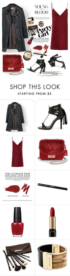"""""""night out"""" by nataskaz ❤ liked on Polyvore featuring Cape Robbin, Furla, Urban Decay, Chanel, OPI, Lancôme, Borghese, Michael Kors, women's clothing and women"""