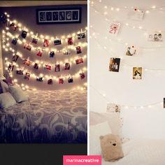 LED garlands in the interior #LED #flashlights #lights #Interior #DIY #Christmas