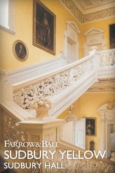Sudbury Yellow - an interpretation of John Fowler's wall colour for the staircase at Sudbury Hall in Derbyshire