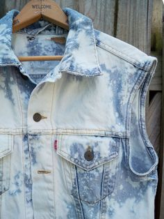 LEVI vintage bleach splatter upcycled punk rock denim