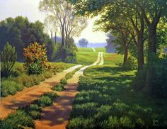 Pasture Road Painting