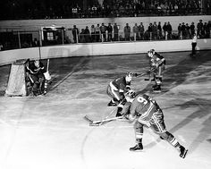 Michigan State University v. Denver Hockey Game, 1954 by Michigan State University Archives, via Flickr