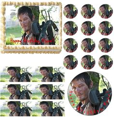 Walking Dead DARYL DIXON Party Edible Cake Topper Frosting Sheet-All Sizes! #ProfessionalBakeryQuality