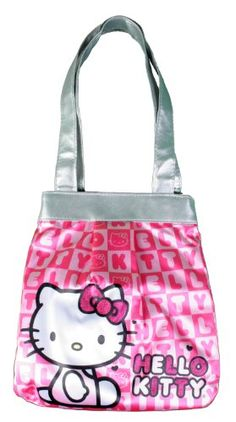 0ba6eb4a3 $17.50 Hello Kitty Pink & Silver Jacquard Tote Shoulder Bag From Hello  Kitty Get it