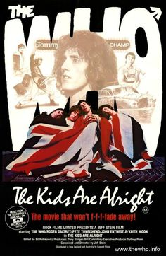 An original rolled Australian one-sheet movie poster from 1979 for The Kids Are Alright. Not a reproduction. Certificate of Authenticity (COA) included. The Who Band, Rock Posters, Movie Posters, Music Documentaries, John Entwistle, Vintage Concert Posters, Pete Townshend, Thoughts, Concert Posters