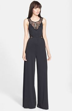 Filtre Lace Inset Wide Leg Jumpsuit available at #Nordstrom