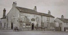 The original Red Lion at Four Lane Ends. Vintage Pictures, Old Pictures, Old Photos, Bolton Lancashire, Lanes End, Salford, Small Towns, Old Town, Railroad Tracks