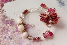 Morganite, ruby & clear quartz