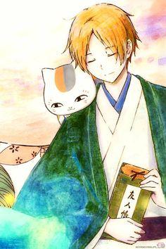 Natsume and Sensei Manga Art, Manga Anime, Anime Art, Anime Comics, Kawaii Anime, Natsume Takashi, Hotarubi No Mori, Natsume Yuujinchou, Anime Kunst